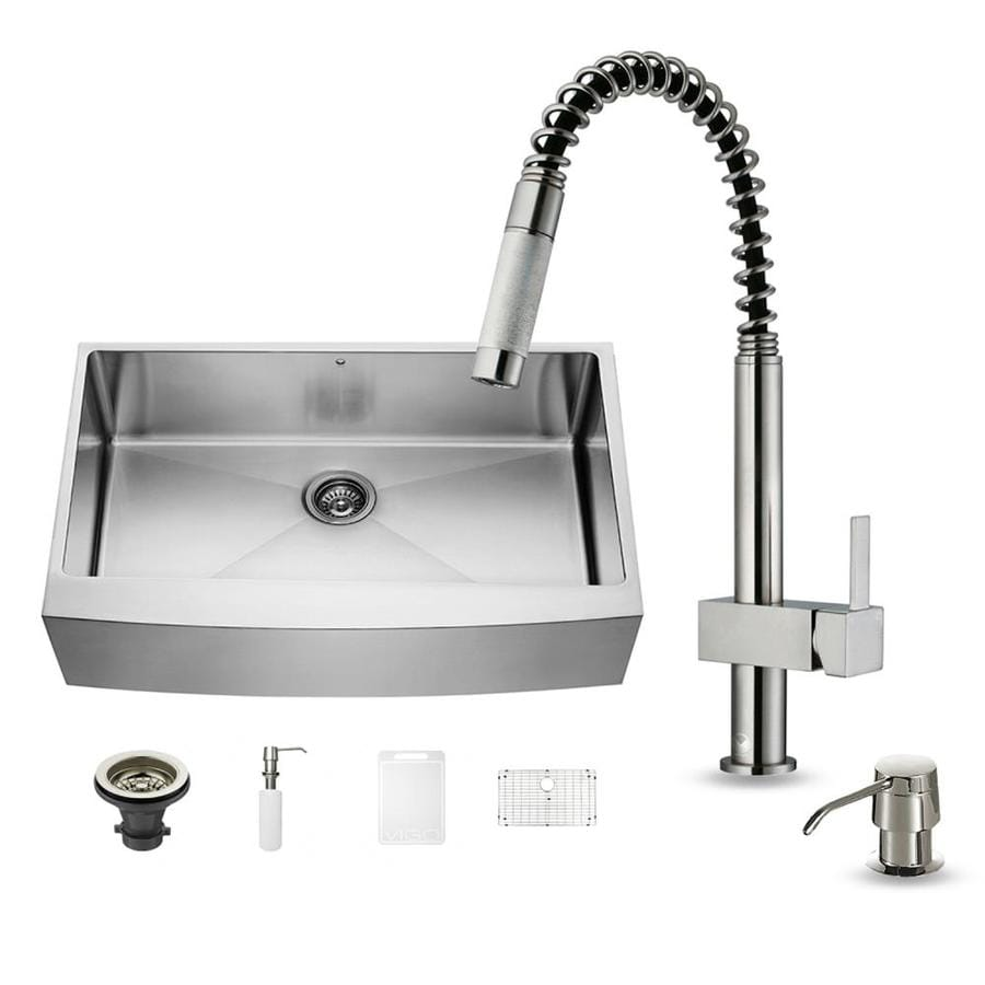 ... Front/Farmhouse Commercial/Residential Kitchen Sink All-In-One Kit