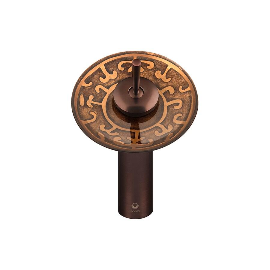 VIGO Golden Greek 1-Handle Single Hole WaterSense Bathroom Faucet