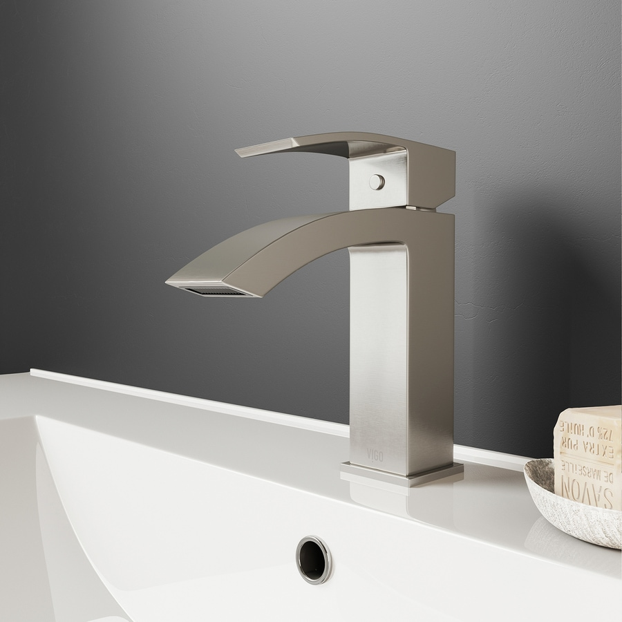 satro brushed nickel 1 handle single hole watersense bathroom faucet