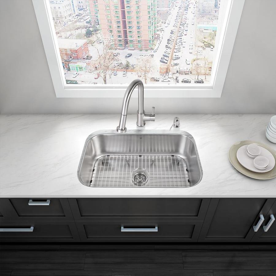 ... Undermount 1-Hole Commercial/Residential Kitchen Sink All-In-One Kit