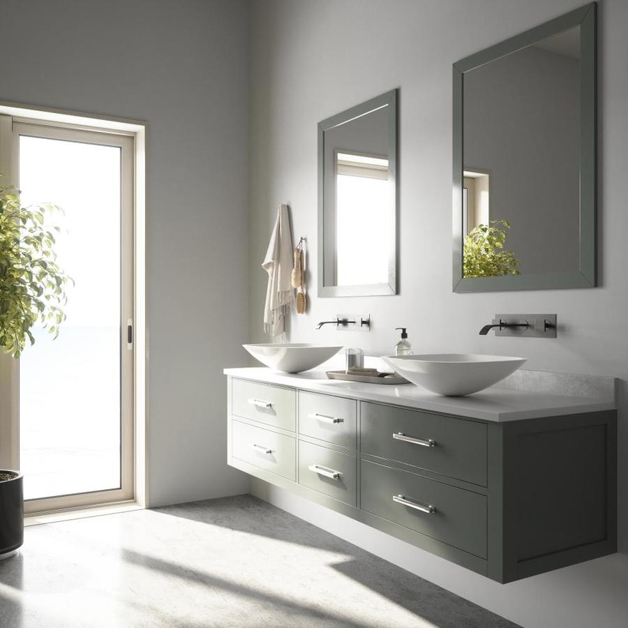 VIGO Vessel Bathroom Sets White Glass Vessel Square Bathroom Sink with Faucet (Drain Included)