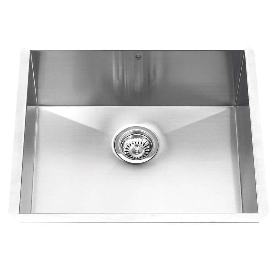 VIGO 23-in x 18-in Stainless Steel Single-Basin Stainless Steel Undermount Commercial/Residential Kitchen Sink