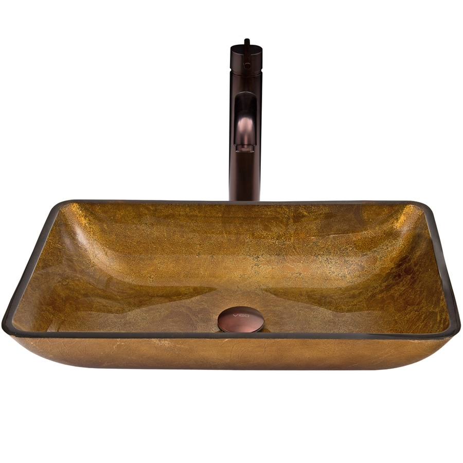 copper bathroom sinks shop vigo glass sink and vessel faucet set copper glass 12513