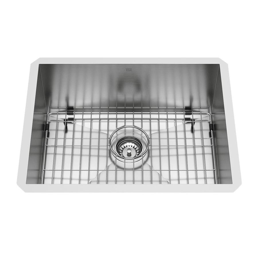 Vigo 16 Gauge Single Basin Undermount Stainless Steel