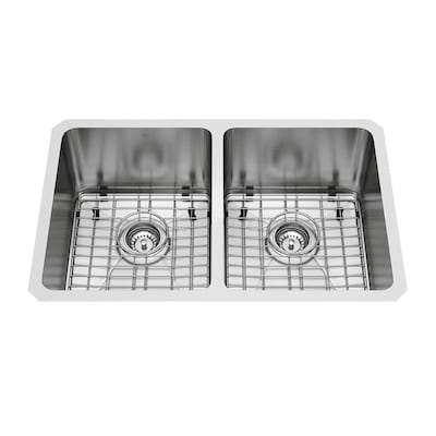 16-Gauge Double-Basin Undermount Stainless Steel Kitchen Sink