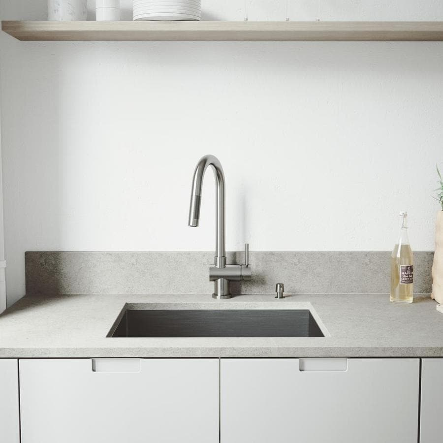 Industrial Residential Kitchen: VIGO 18-in X 23-in Stainless Steel Single-Basin Commercial