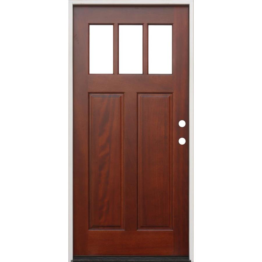 Lowes Exterior Doors: Creative Entryways Craftsman Clear Glass Left-Hand Inswing
