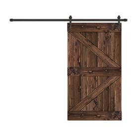Creative Entryways Sliding Espresso Stained K Frame Wood Pine Barn Door Hardware Included Common