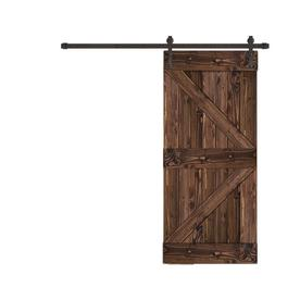 Creative Entryways Sliding Espresso Stained K Frame Wood Pine Barn Door  With Hardware (Common