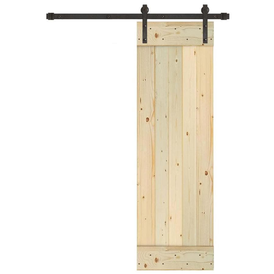 Creative Entryways Sliding Barn Door Unfinished 1 Panel Wood Pine Hardware Included Common 24 In X 80 Actual 84