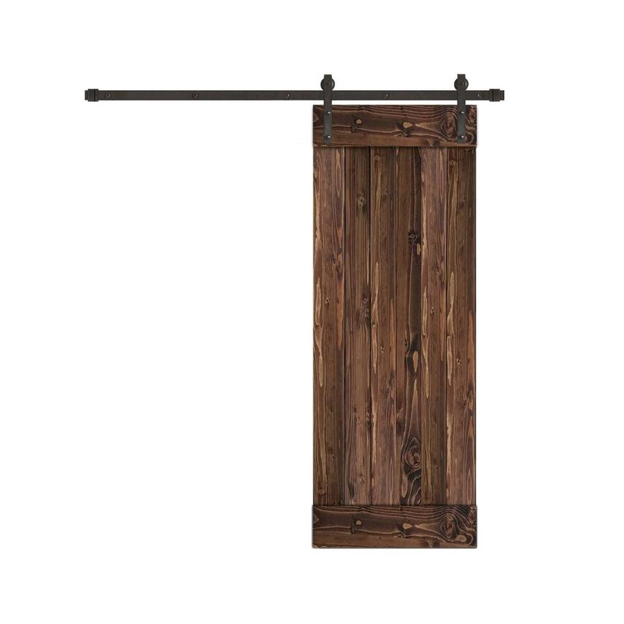 Creative Entryways Sliding Barn Door Espresso Stained 1 ...