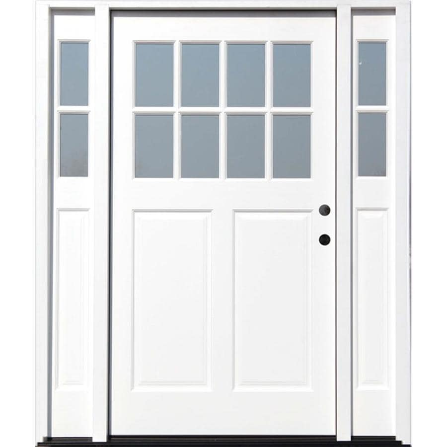 Creative Entryways Craftsman Clear Glass Left Hand Inswing White