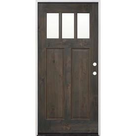 Creative Entryways Craftsman Clear Gl Left Hand Inswing Ash Alder Stained Wood Prehung Entry Door