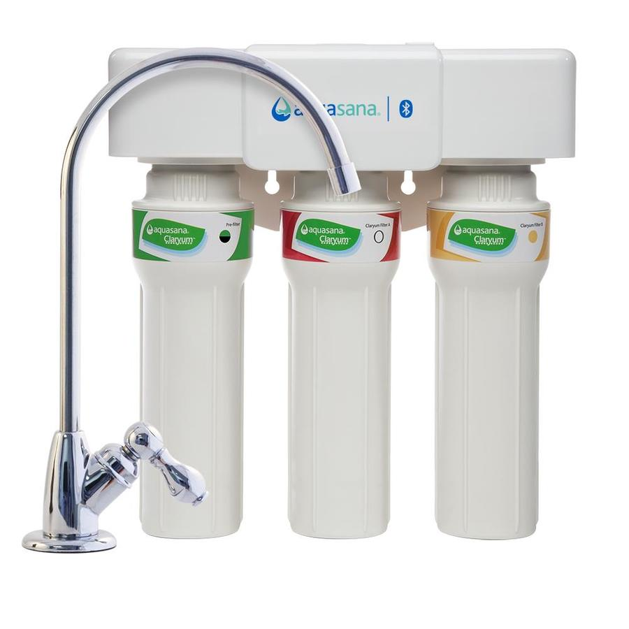 Aquasana Max Flow Triple-Stage Carbon Block Under Sink Water Filtration System