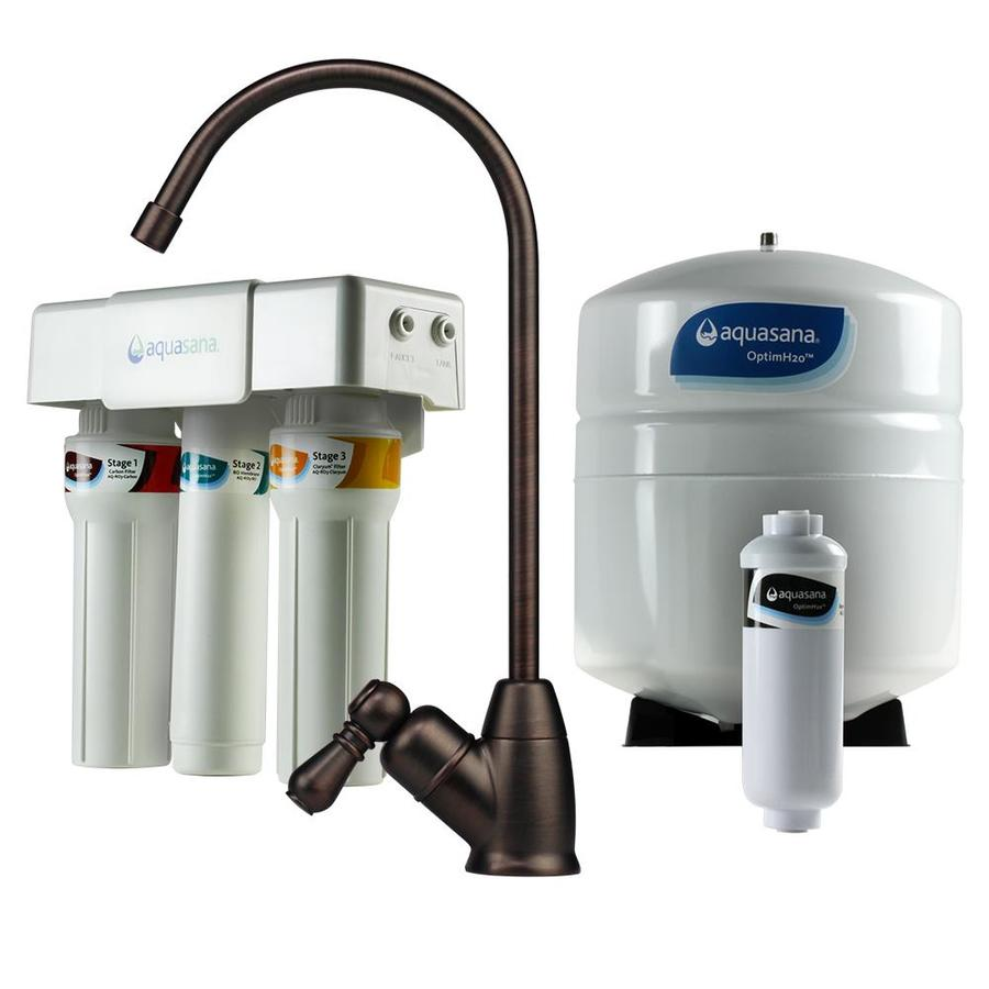Aquasana Optimh2o Triple-Stage Reverse Osmosis Membrane Under Sink Filtration System