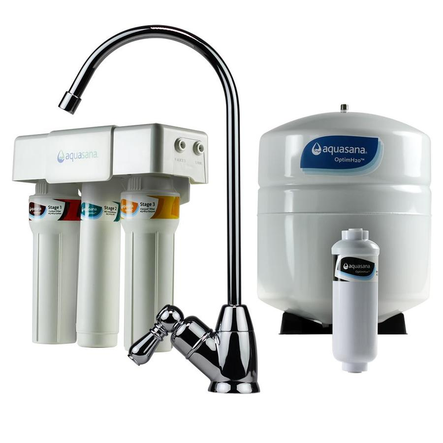 Aquasana 9.5-in x 2.2-in Under Sink Complete Filtration System with Reverse Osmosis