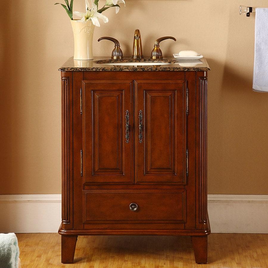 Silkroad Exclusive 28-in Special Walnut Single Sink