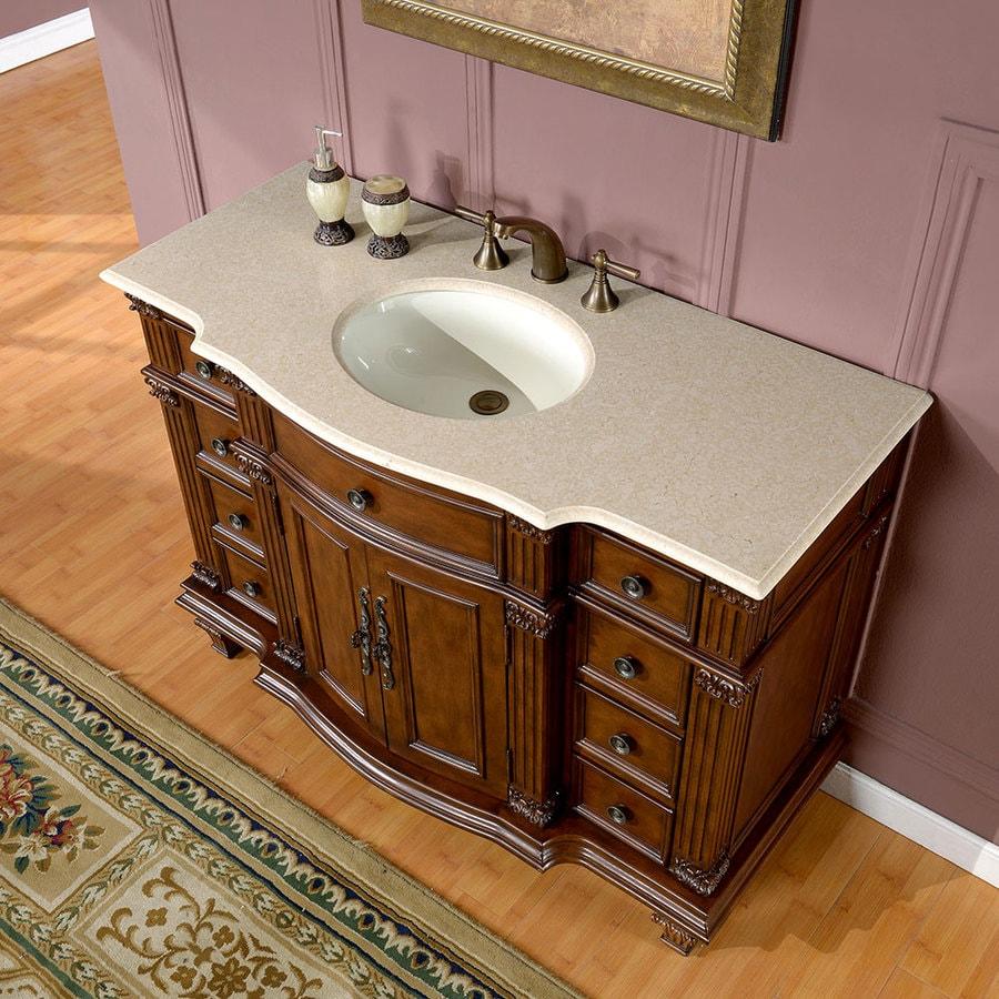 Silkroad Exclusive 48-in Brazilian Rosewood Single Sink ...