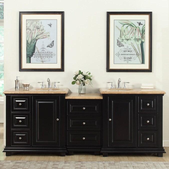 Dark Espresso Double Sink Bathroom