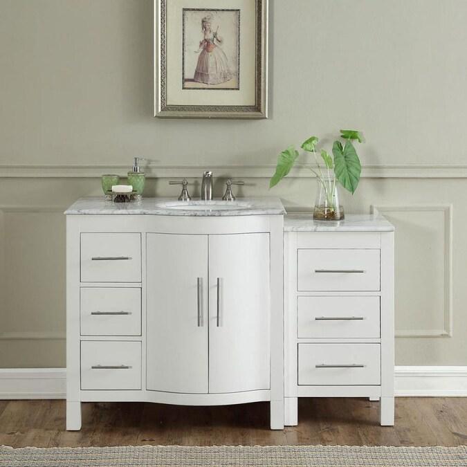 Silkroad Exclusive 53.5-in White Single Sink Bathroom ...