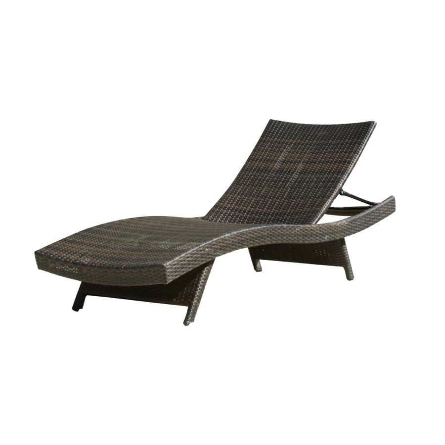 Best Ing Home Decor Wicker Stackable Plastic Stationary Chaise Lounge Chair S With Woven Seat
