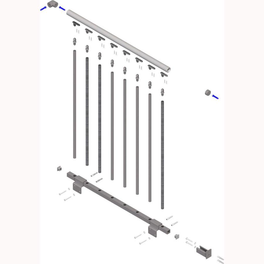 DOLLE Toronto 3.5-ft Gray Prefinished Steel Stair Railing Kit