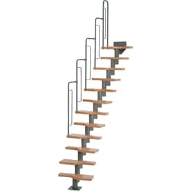 DOLLE Graz 9.5 Ft Gray Modular Staircase Kit