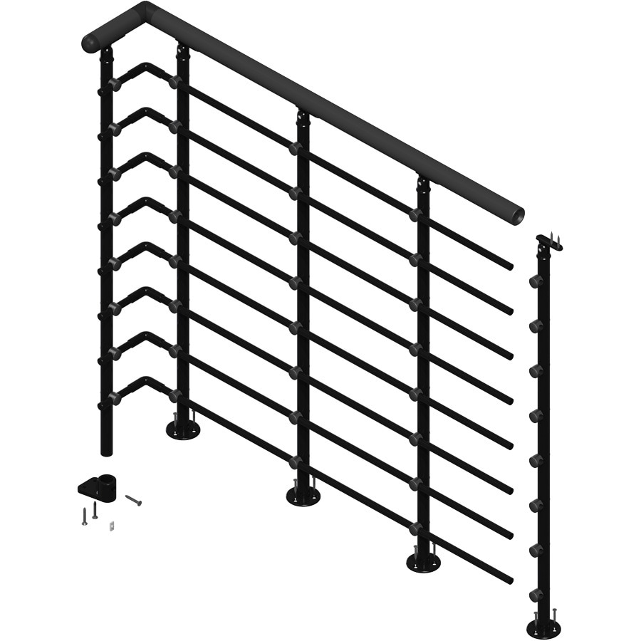 DOLLE Oslo 3.5-ft Black Powder Coated Painted Steel Stair Railing Kit