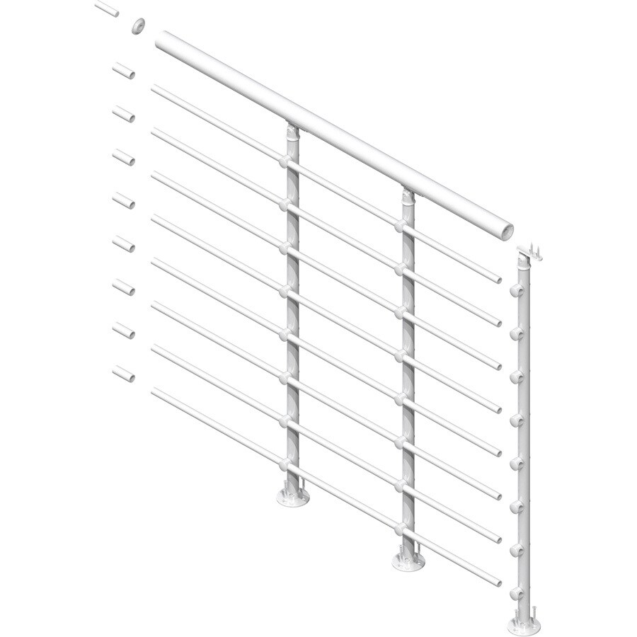 DOLLE Oslo 3.5-ft White Powder Coated Painted Steel Stair Railing Kit
