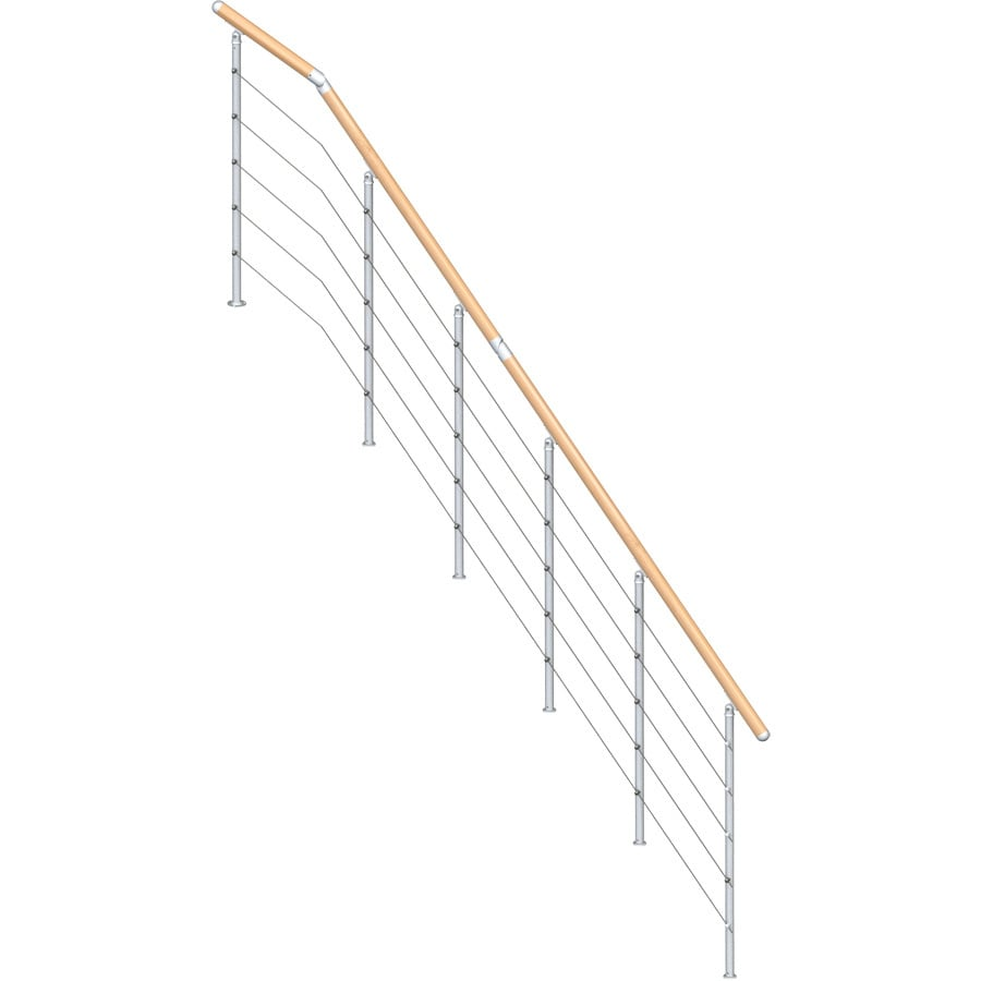 Shop Dolle Rome 3 5 Ft Gray Painted Beechwood Steel Stair