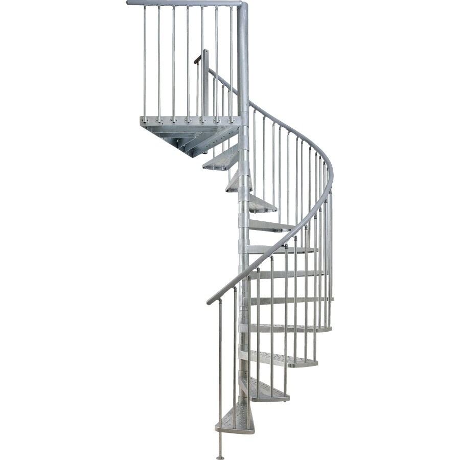 DOLLE Toronto 61-in x 11-ft Galvanized Grey Spiral Staircase Kit