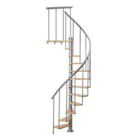 Beau DOLLE Calgary 55 In X 9.2 Ft Gray Spiral Staircase Kit