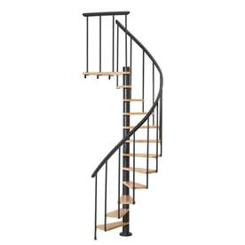 DOLLE Calgary 47 In X 9.2 Ft Black Spiral Staircase Kit