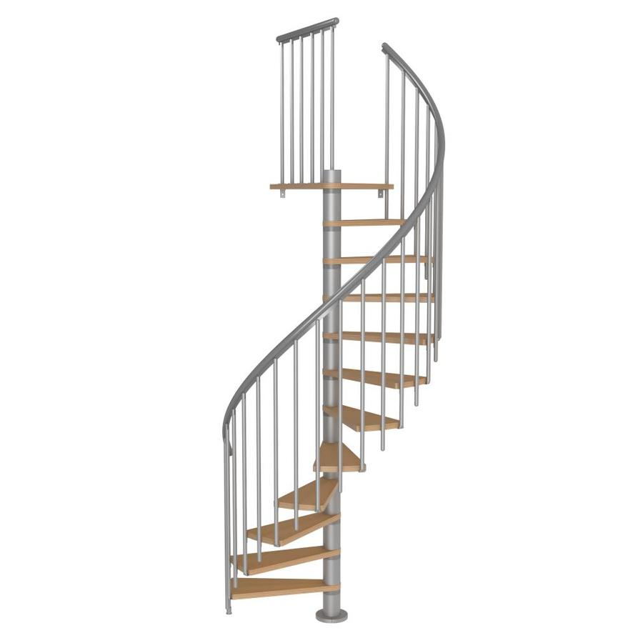 Merveilleux DOLLE Calgary 47 In X 9.2 Ft Gray Spiral Staircase Kit
