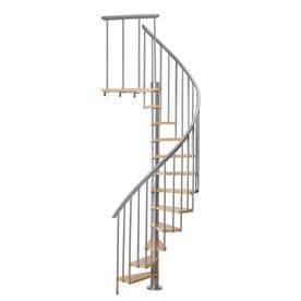 Elegant DOLLE Calgary 47 In X 9.2 Ft Gray Spiral Staircase Kit