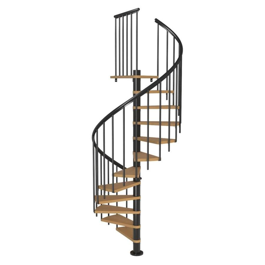 Spiral Staircase Lowes: DOLLE Calgary 47-in X 9.2-ft Black Spiral Staircase Kit At