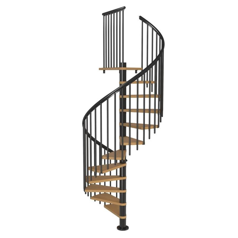 Charmant DOLLE Calgary 55 In X 9.2 Ft Black Spiral Staircase Kit