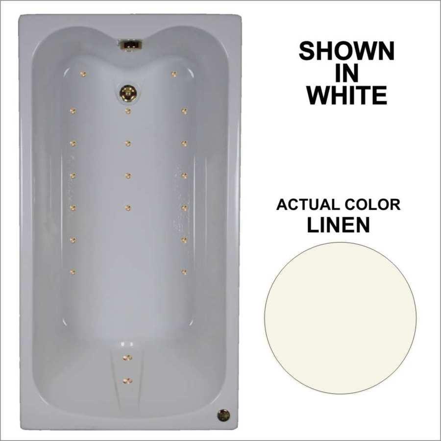Shop Watertech Whirlpool Baths Ultra 59.75-in Linen Acrylic Drop-In ...