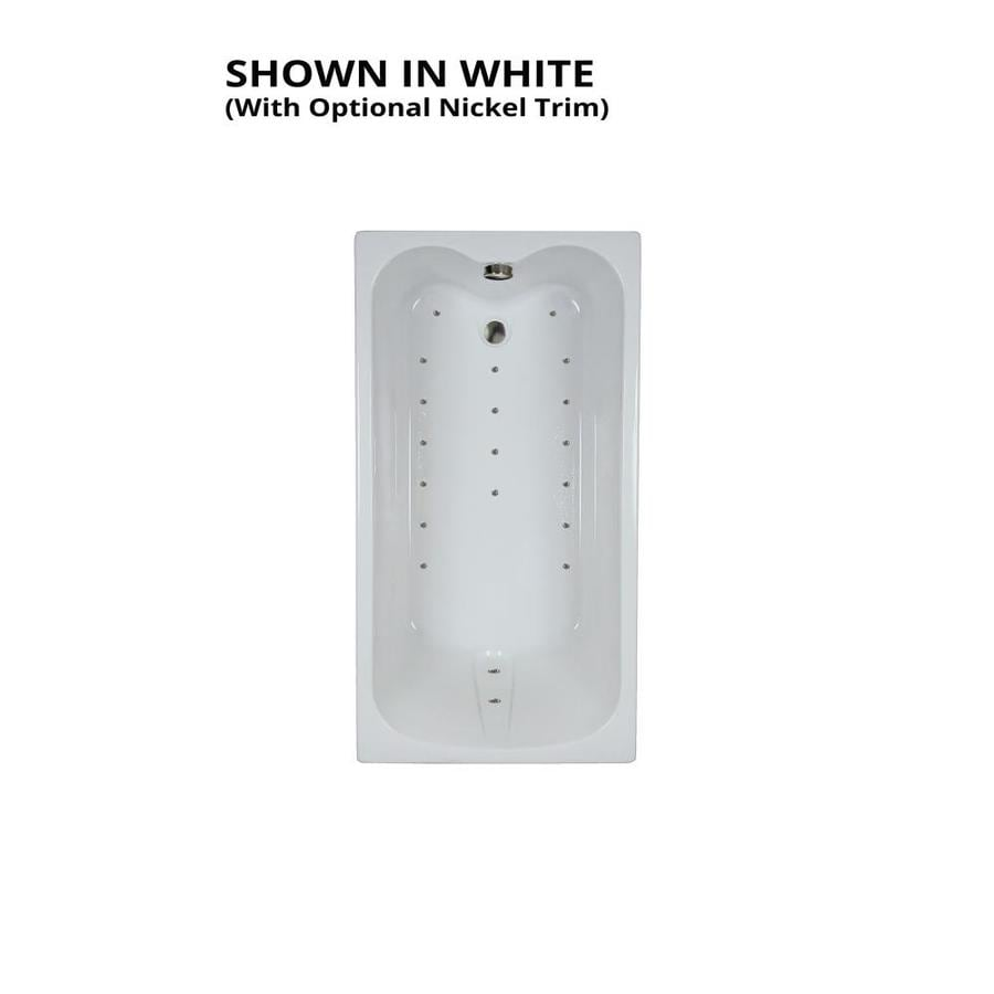 Watertech Whirlpool Baths Ultra 59.75-in L x 31.75-in W x 23.5-in H White Acrylic Rectangular Drop-in Air Bath