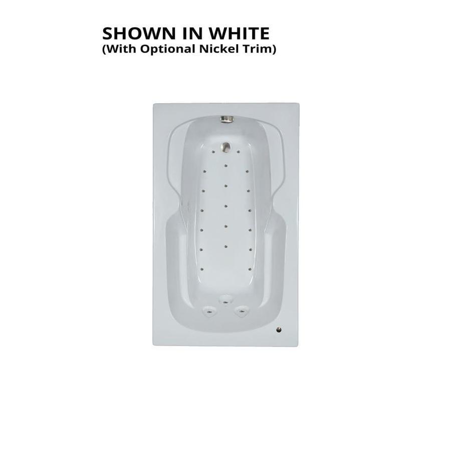 Watertech Whirlpool Baths 59.5-in L x 35.75-in W x 21-in H White Acrylic Rectangular Drop-in Air Bath