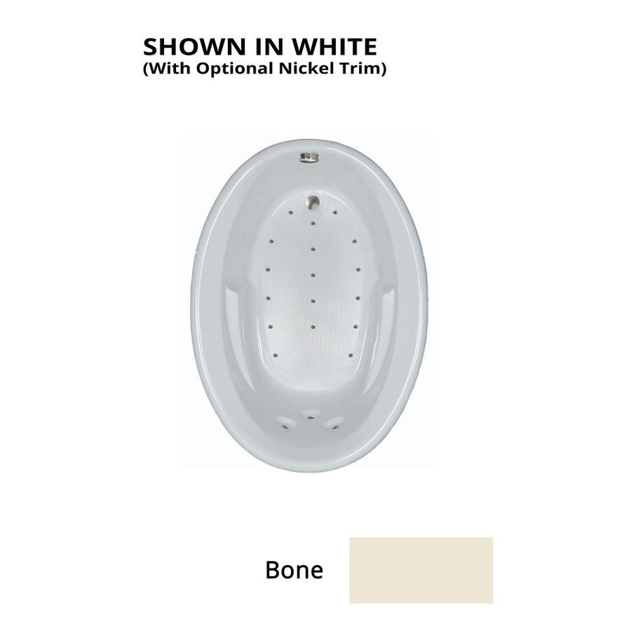 Watertech Whirlpool Baths 59.625-in Bone Acrylic Drop-In Air Bath with Reversible Drain