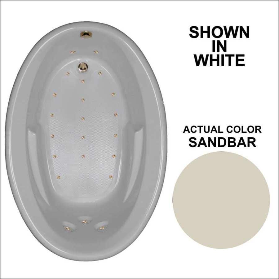 Watertech Whirlpool Baths 59.625-in Sandbar Acrylic Drop-In Air Bath with Reversible Drain