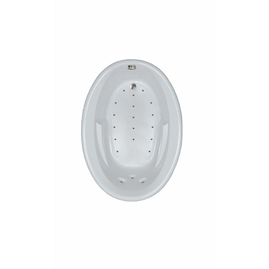 Watertech Whirlpool Baths 59.625-in White Acrylic Drop-In Air Bath with Reversible Drain