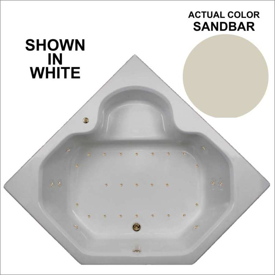 Watertech Whirlpool Baths 59.5-in Sandbar Acrylic Drop-In Air Bath with Front Center Drain
