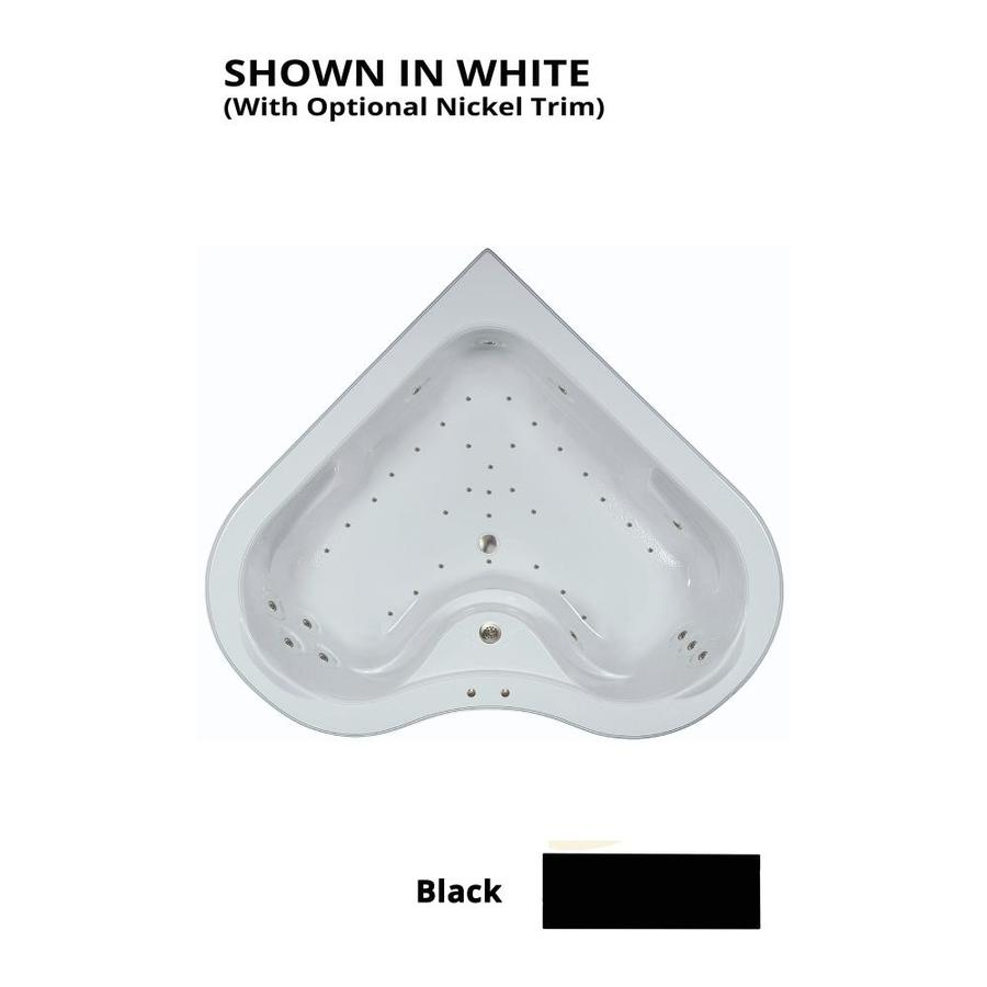 Watertech Whirlpool Baths 64.25-in L x 64.25-in W x 21.5-in H Black Acrylic 2-Person Corner Drop-in Air Bath