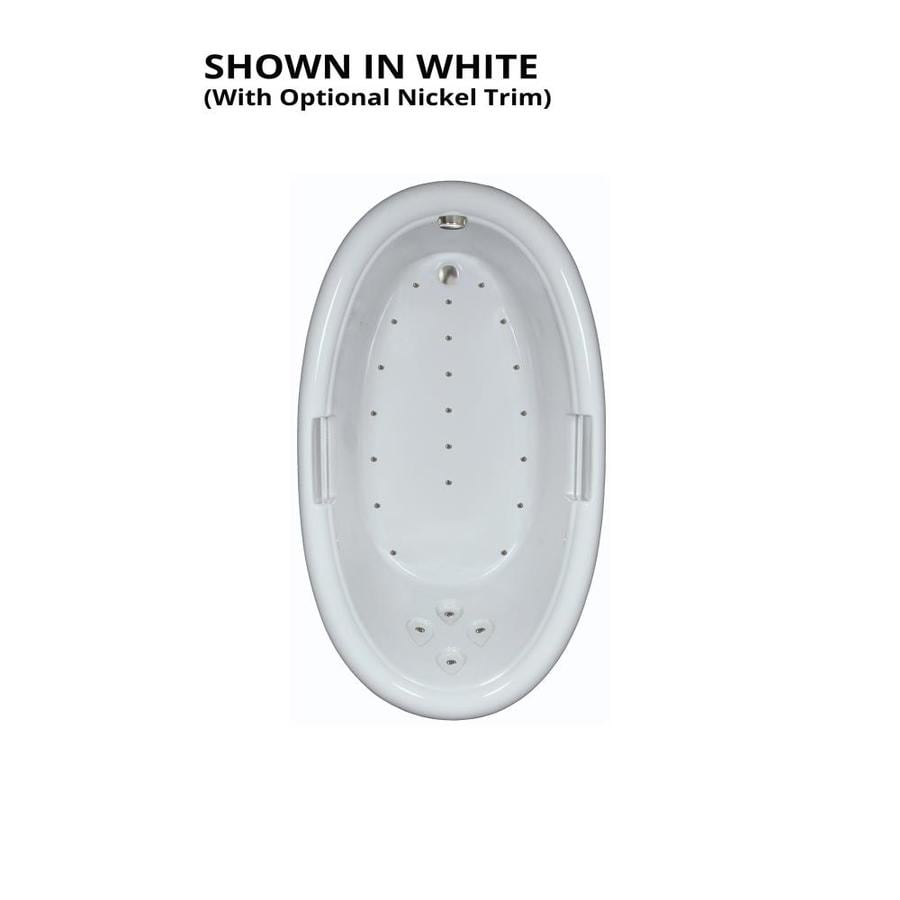 Watertech Whirlpool Baths 71.25-in White Acrylic Drop-In Air Bath with Reversible Drain