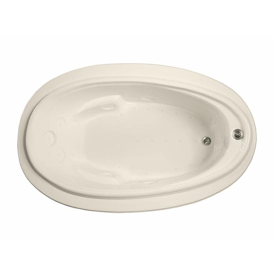 Watertech Whirlpool Baths 70.875-in Bone Acrylic Drop-In Air Bath with Reversible Drain