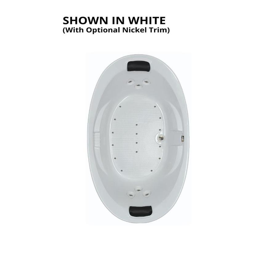 Watertech Whirlpool Baths 72.75-in White Acrylic Drop-In Air Bath with Reversible Drain