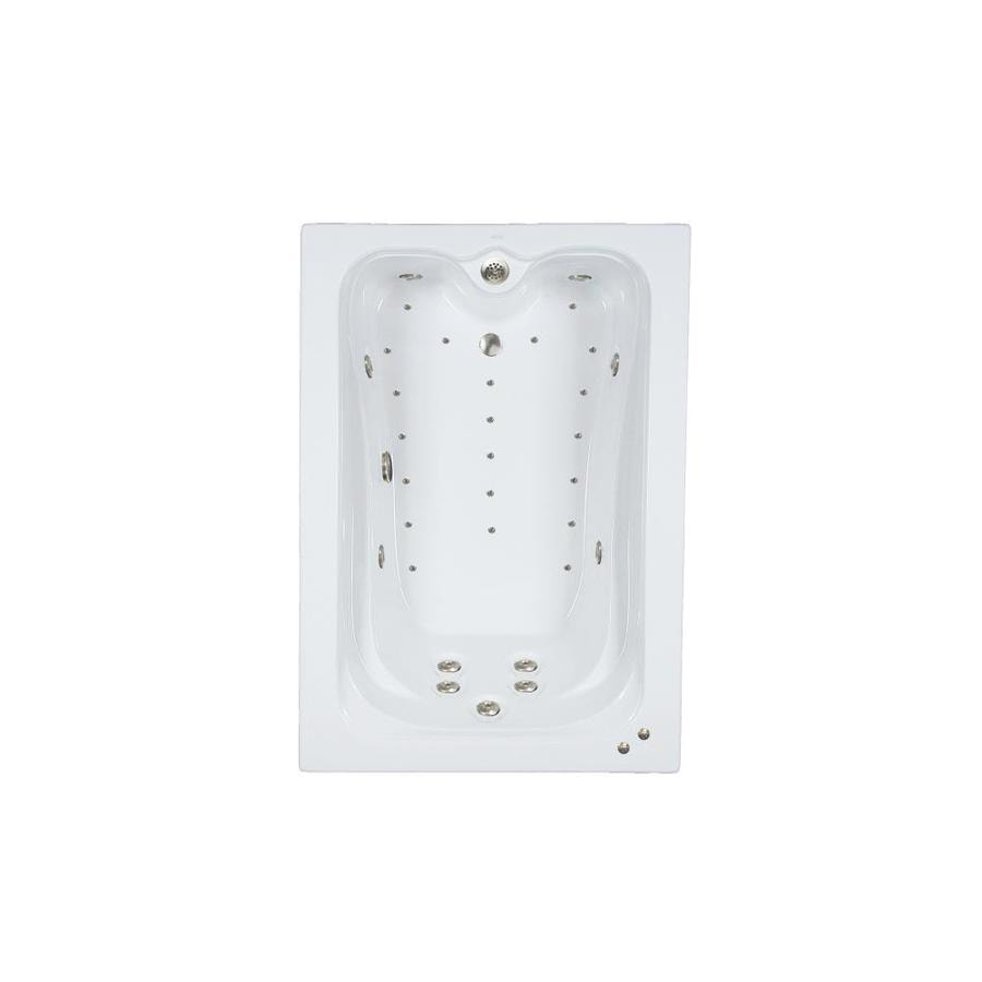 Watertech Whirlpool Baths Elite 60-in White Acrylic Drop-In Whirlpool Tub And Air Bath with Reversible Drain
