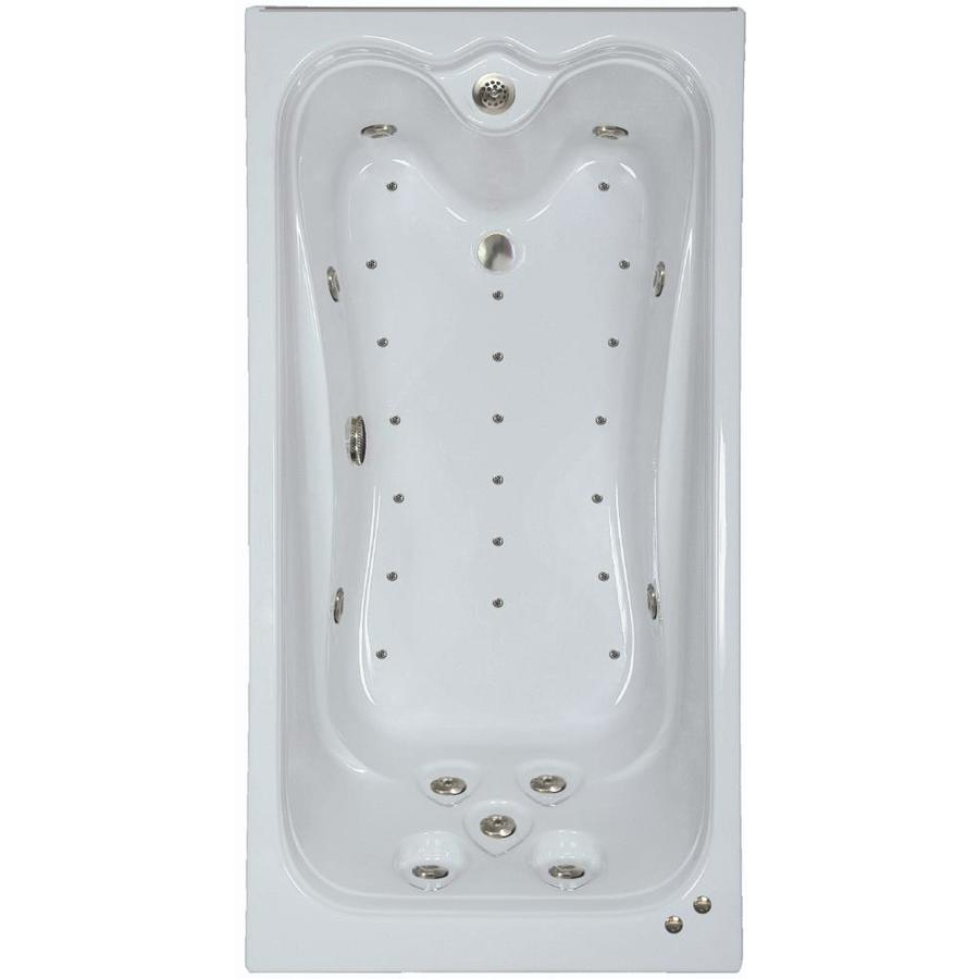 Watertech Whirlpool Baths Elite 72-in Linen Acrylic Drop-In Whirlpool Tub and Air Bath with Reversible Drain